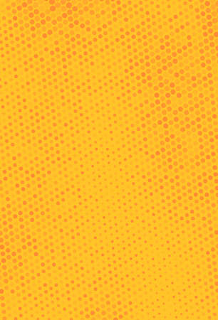 Illustration pour Halftone background. Digital gradient. Dotted pattern with circles, dots, point smll scale. Design element for web banners, posters, cards, wallpapers, sites, panels. Yellow, orange color - image libre de droit