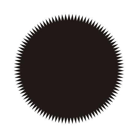 Ilustración de Vintage  label, sticker. Vector starburst, sunburst badge. Black on white color. Simple flat style Design elements. - Imagen libre de derechos