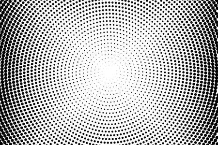 Illustration pour Abstract monochrome halftone pattern. Futuristic panel. Grunge dotted backdrop with circles, dots, point. Design element for web banners, posters, cards, wallpapers, sites. Black and white color - image libre de droit