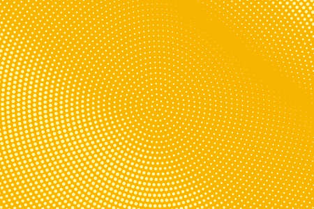 Illustration pour Abstract halftone pattern. Futuristic panel. Grunge dotted backdrop with circles, dots, point. Design element for web banners, posters, cards, wallpapers, sites. Yellow and orange color - image libre de droit