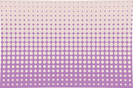 Illustration pour Abstract halftone pattern. Futuristic panel. Grunge dotted backdrop with circles, dots, point. Design element for web banners, posters, cards, wallpapers, sites. Pink, violet color - image libre de droit