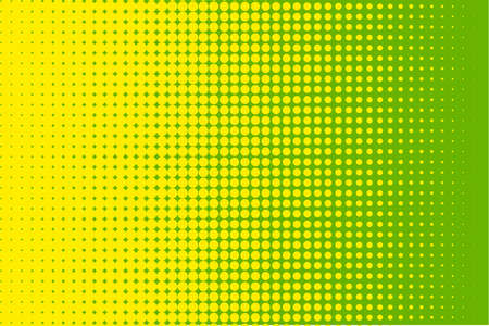 Illustration pour Abstract halftone pattern. Futuristic panel. Grunge dotted backdrop with circles, dots, point. Design element for web banners, posters, cards, wallpapers, sites. Green, yellow color - image libre de droit