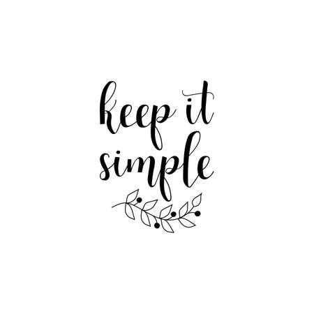 Illustration pour Keep it simple quote vector illustration - image libre de droit