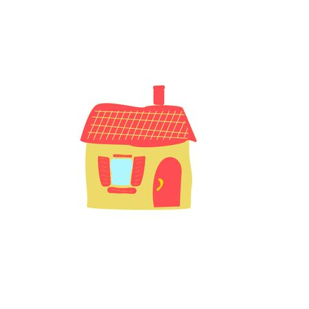Illustration pour Cartoon residential home. New family cartoon house in modern style - image libre de droit