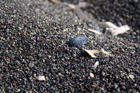 Photo for Close-up picture of the vulcanic black sand. - Royalty Free Image