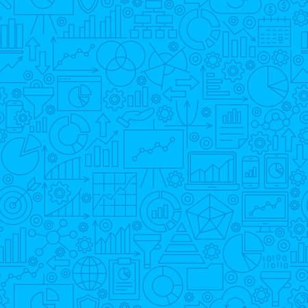 Ilustración de Analytics Line Tile Pattern - Imagen libre de derechos