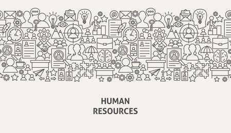 Ilustración de Human Resources Banner Concept Vector illustration. - Imagen libre de derechos