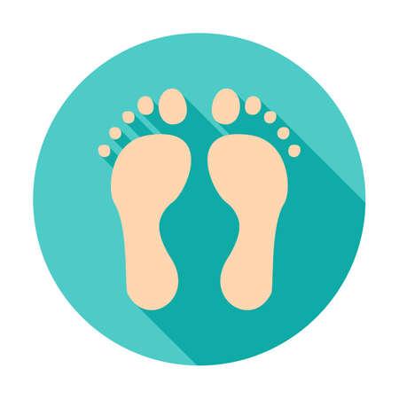 Ilustración de Feet Circle Icon - Imagen libre de derechos