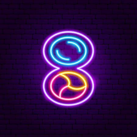 Illustration pour Compact Powder Neon Sign - image libre de droit