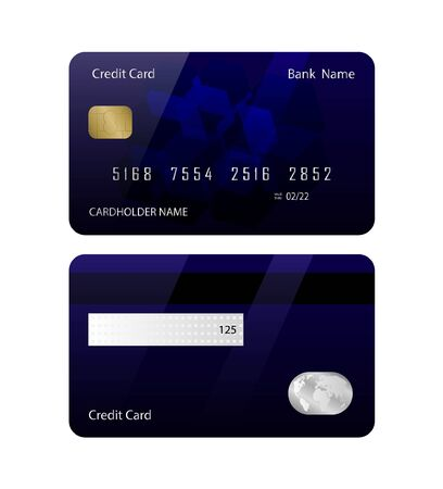 Illustration pour Credit card template front and back - Vector illustration. - image libre de droit