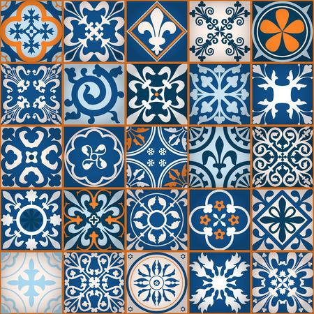 Illustration pour Vector Illustration of Moroccan tiles Seamless Pattern for Design, Website, Background, Banner. Element for Wallpaper or Textile. Middle Ages Ornament Texture Template - image libre de droit