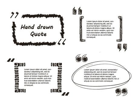 Illustration pour Vector Illustration of Quote hand drawn for Design, Website, Background, Banner. Note bubble symbol Element Template - image libre de droit
