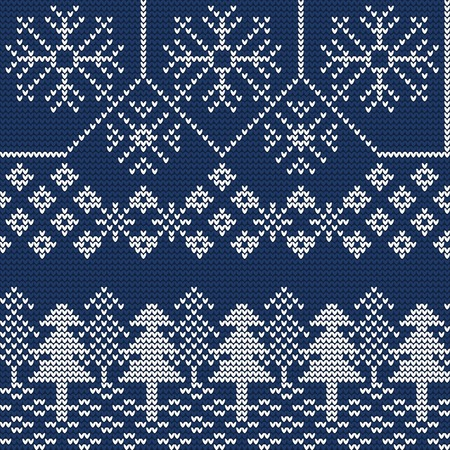 Illustration of Ugly sweater seamless Pattern for Design