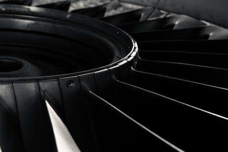 Foto de Closeup of a jet engine of an aircraft - Imagen libre de derechos