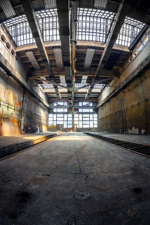 Photo for Dark industrial interior of an old building - Royalty Free Image