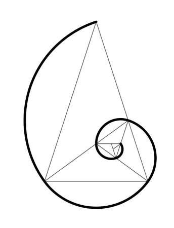 Ilustración de Golden ratio. Cover template design vector  illustration. - Imagen libre de derechos