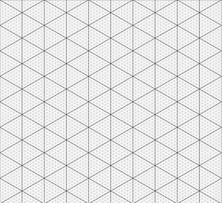 Illustration pour Isometric graph paper background. Measured grid. Graph plotting grid. Corner ruler with measurement isolated on the white background. Vector graph paper template background. - image libre de droit