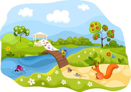 Illustration pour spring card - image libre de droit