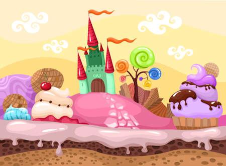 Illustration for sweet landscape - Royalty Free Image