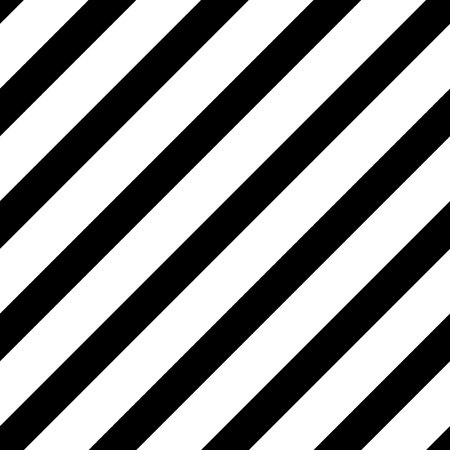 Illustration pour Straight diagonal lines, simple seamless striped pattern, black and white texture, vector background - image libre de droit