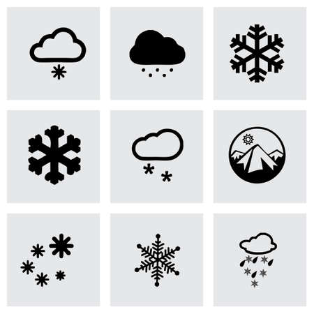Illustration pour Vector snow icon set on grey background - image libre de droit
