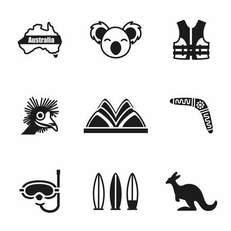 Illustration for Vector Australia icon set on white background - Royalty Free Image