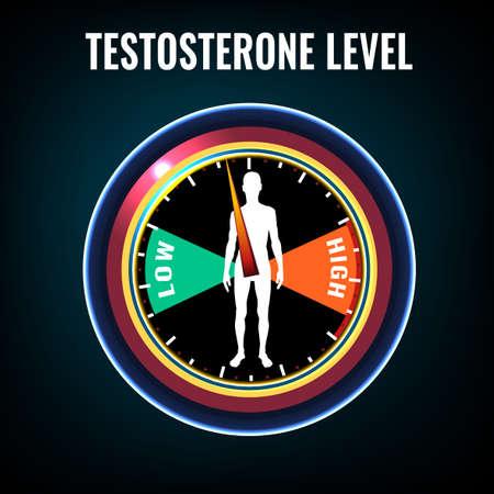 Ilustración de Testosterone deficiency concept - Imagen libre de derechos