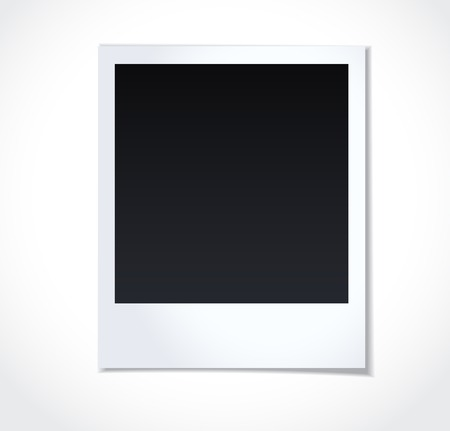 Illustration pour Polaroid photoframe on white background - image libre de droit