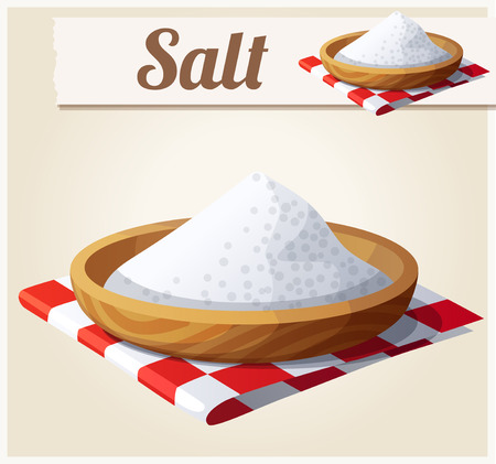 Illustration pour Salt. Detailed Vector Icon. Series of food and drink and ingredients for cooking. - image libre de droit
