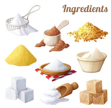 Ilustración de Set of food icons. Ingredients for cooking - Imagen libre de derechos