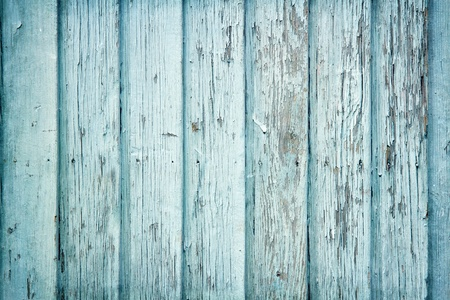Photo for Old wooden painted light blue rustic background, paint peeling - Royalty Free Image