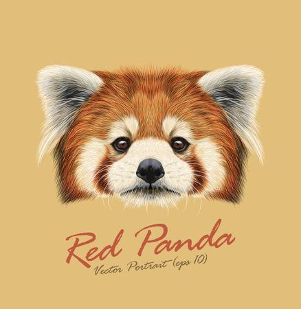 Illustration pour Cute face of Red Panda on natural background - image libre de droit