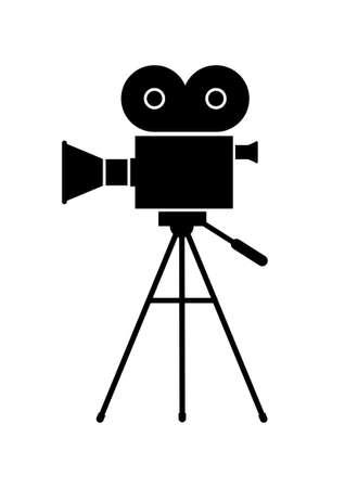 Illustration pour Movie camera - image libre de droit