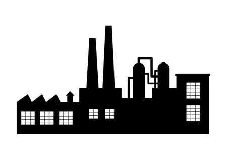 Ilustración de Factory vector icon on white background - Imagen libre de derechos