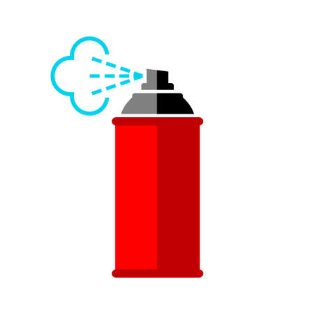 Illustration pour Red spray can icon on white background - image libre de droit