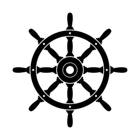 Illustration pour Black rudder vector icon on white background - image libre de droit
