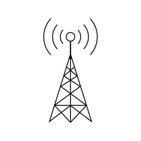 Photo pour Black transmitter vector icon on white background - image libre de droit