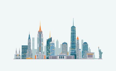 Illustration pour Vector graphics, flat city illustration, eps 10 - image libre de droit