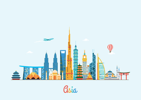 Illustration pour Vector graphics, flat city illustration - image libre de droit