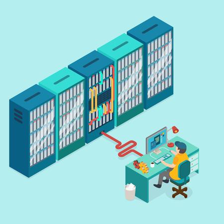 Illustration pour 3d isometric design vector illustration - image libre de droit