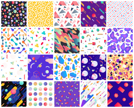 Illustration pour Geometric seamless patterns. - image libre de droit