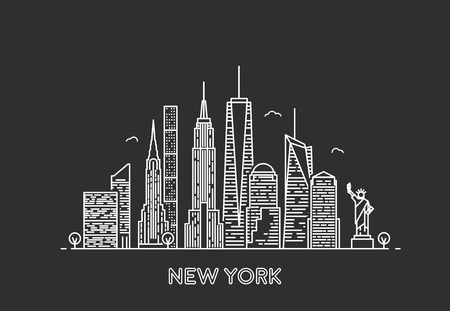 Illustration pour New York skyline. - image libre de droit