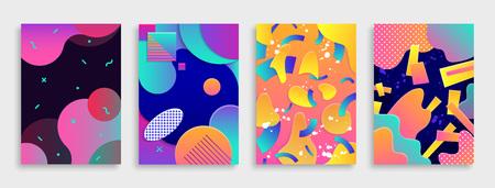 Illustration pour Colored Modern abstract covers set. Vector illustration. - image libre de droit