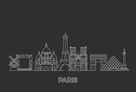 Ilustración de Paris vector skyline. - Imagen libre de derechos