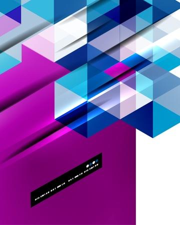 Illustration pour Abstract straight lines vector background - image libre de droit