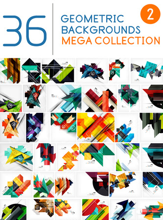 Foto de Mega collection of geometric shape abstract backgrounds - Imagen libre de derechos