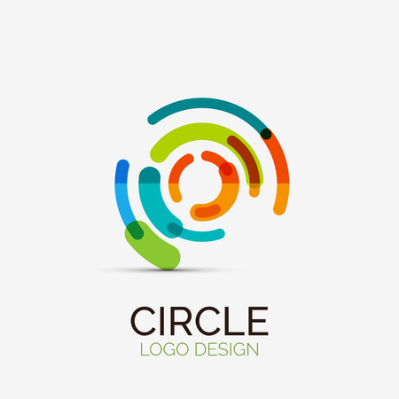 Illustrazione per Hi-tech circle company logo, business concept - Immagini Royalty Free