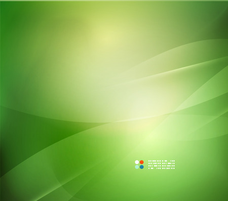 Illustration pour Fresh green blur wave and colors - image libre de droit