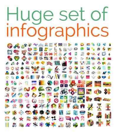 Ilustración de Huge mega set of infographic templates - Imagen libre de derechos