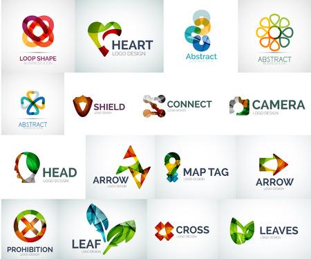 Ilustración de Abstract company logo collection - Imagen libre de derechos